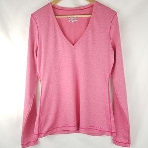 Under Armour V-neck Long Sleeve Heat Gear Pink